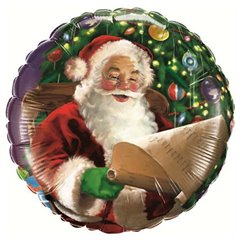 "Santa Claus Foil Balloon - 18""/45cm, Qualatex 32343"
