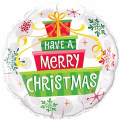 "Have a Merry Christmas Foil Balloon - 18""/45cm, Qualatex 55085"