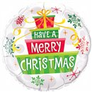"Have a Merry Christmas Foil Balloon - 18""/45cm, Qualatex 55085"