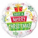 """Balon Folie 45 cm """"Have a Merry Christmas"""", Qualatex 55085"""