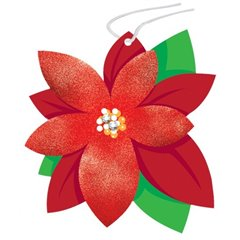 Etichete Craciunita pentru cadouri - 8x9cm, Amscan 262094, Set 8 buc