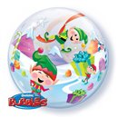 "Merry Elves Bubble Balloon - 22""/56cm, Qualatex 50982"
