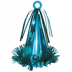 Light Blue Party Hat Balloon Weight - 170g, Amscan 1019002