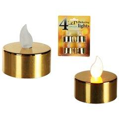 Lumanari decorative aurii cu LED, OOTB 950026, Set 4 buc
