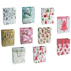 Christmas Paper Gift Bag - 18x23cm, OOTB 960113