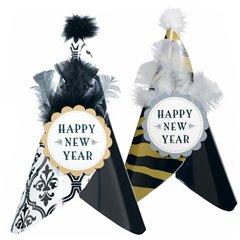 Coif cu pene pentru petrecere Revelion, Amscan 255707.99