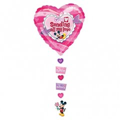 "Mickey ""Sending All My Love"" Drop A Line Shape Foil Balloon - 61x137 cm, Amscan 10468"