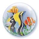 "Seaweed Tropical Fish Double Bubble Balloon - 24""/61cm, Qualatex 68809, 1 piece"