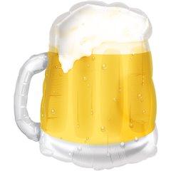 Beer Mug See-Thru SuperShape Foil Balloon - 50x58cm, Amscan 0725601