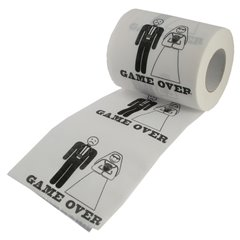 Wedding Funny Gift - Game Over Toilet paper, OOTB 33/0069, 1 piece