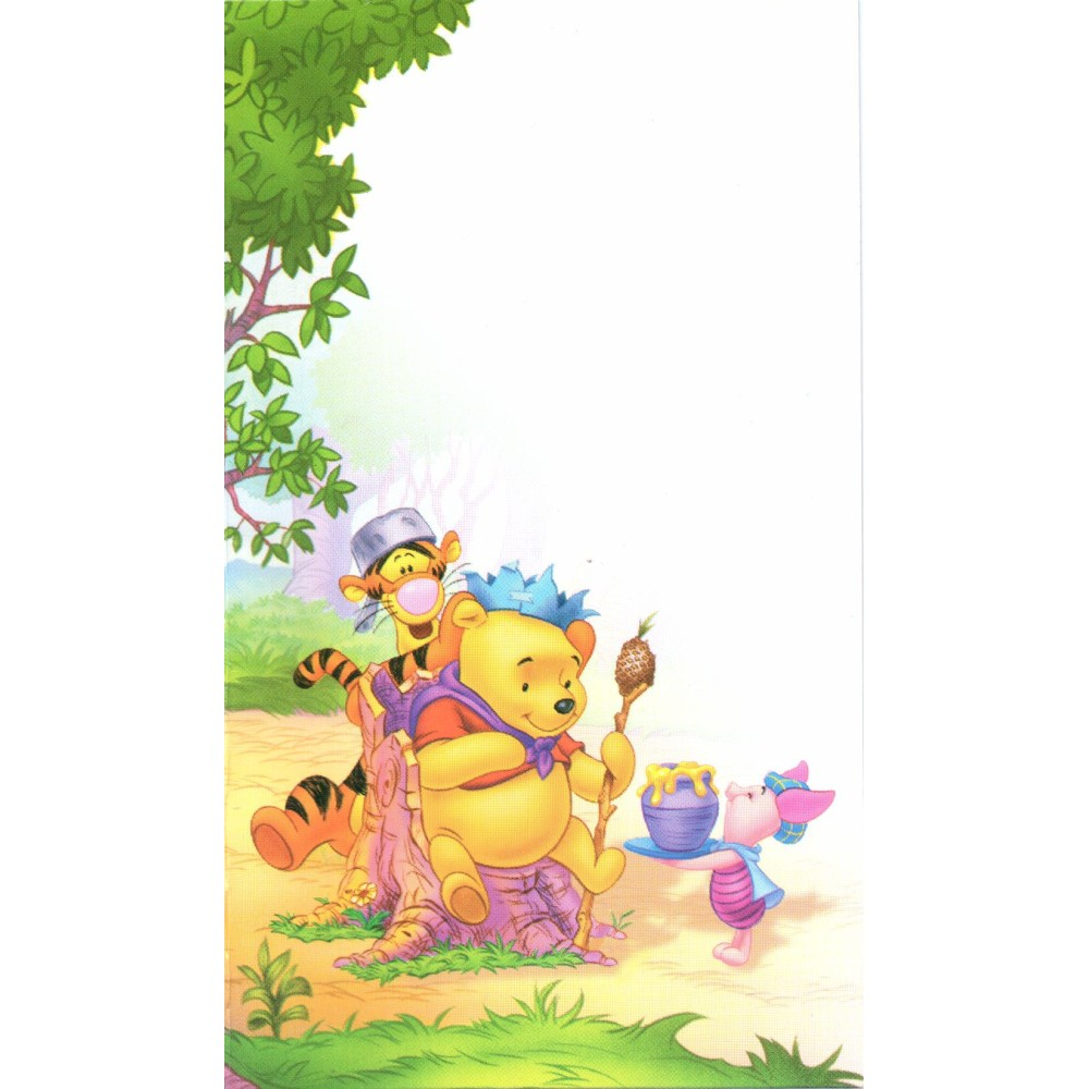 Winnie the Pooh Invitation Cards, Amscan RM3802, Pack of 6 Pieces