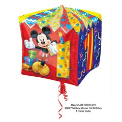 """Mickey Mouse Age 1 Cubez Foil Balloons - 15"""", Amscan 28627"""
