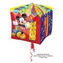 Balon Folie Cubez Mickey Mouse & Cifra 1 - 38cm, Amscan 28627