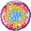 "Balloons Happy Birthday Bright, Qualatex, 18"", 16810"