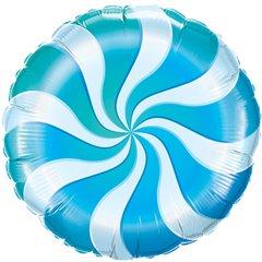 Balon Folie 45 cm Acadea Alb cu Albastru, Qualatex 17362