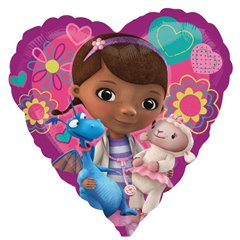 "Doc Mcstuffins Love Heart Shape Foil Balloon, Amscan, 18"", 29839"