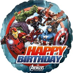 Balon folie 45cm Avengers Happy Birthday, Amscan 27083