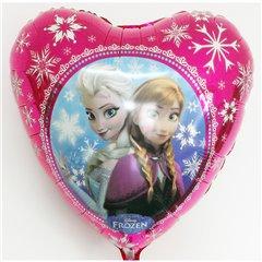 Balon folie inima Frozen - Anna & Elsa - 45cm, Amscan 30402