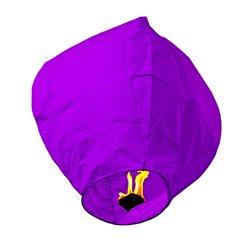 Lampion zburator violet pentru nunti, petreceri sau evenimente, LC.VIOLET, 1 buc