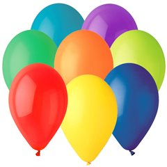 Assorted Latex Balloons , 12 inch (30 cm), Gemar G110.ASS, Pack Of 100 pieces