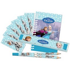 "Stationery set ""Frozen"" (notebook, pencil, ruler, stickers) , Amscan999237"