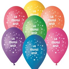 """La multi ani!"" Printed Latex Balloons, Radar GI.LMA.T1"