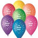 """Baloane latex 10""""/26cm inscriptionate """"La multi ani!"""", Radar GI90.LMA"""