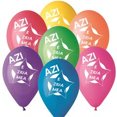 "Latex Balloons Printed with ""Azi e ziua mea"", Radar GI.AZM"