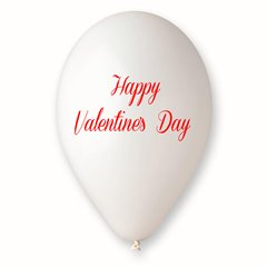 "Baloane latex albe inscriptionate ""Happy Valentine's Day"", Radar GI.LOVE.WH.T3"
