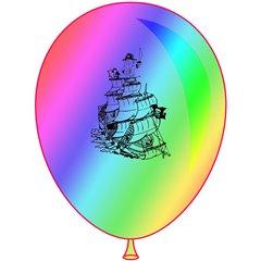 "Latex Balloons Printed with for Halloween - 10""/26cm, Radar GI90.HALLOWEEN"