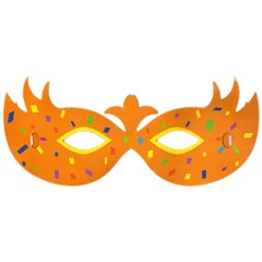 Masca multicolora pentru petrecere - Model 1, Radar SMFIT.MASCA1