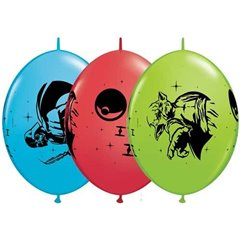 12'' Star Wars Quick Link Latex Balloons, Qualatex 17342, Pack of 10 pieces