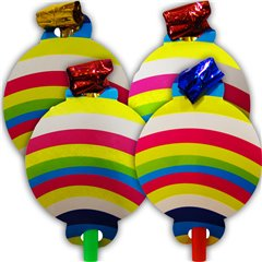 Assorted Happy Birthday Blowouts for parties, Radar SMFIT.SLHB, Pack of 4 pieces