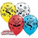 Spiderman Latex Balloons - 11''/28 cm, Qualatex 18671, Pack of 25 pieces