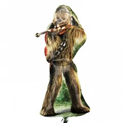 "Star Wars Chewbacca SuperShape Foil Balloon 17""/43cm x 38""/96cm , Amscan 3040001"