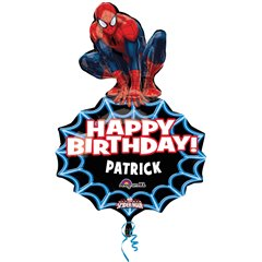 Spider-Man Personalised SuperShape Foil Balloons - 58x83cm, Amscan 2965501