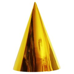 Coifuri de petrecere 16cm Auriu Metalizat - Copii, Radar SMFIT.C16AURIU