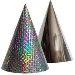 Metallic Silver Party Paper Hats - 16cm, Radar SMFIT.C16ARGINTIU