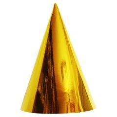 Coifuri de petrecere 20cm auriu metalizat - Adulti, Radar C20.AURIU