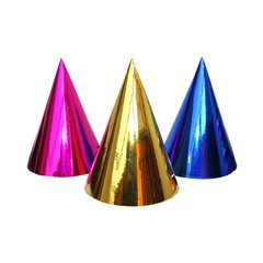Assorted Metallic Party Paper Hats - 20cm, Radar SMFIT.C20ASS