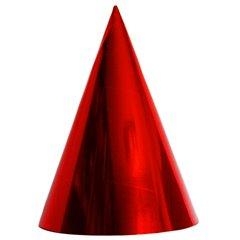 Coifuri de petrecere 20cm rosu metalizat - Adulti, Radar SMFIT.C20.ROSU