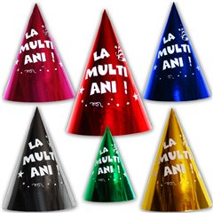 """Coifuri de petrecere 20cm inscriptionate """"La multi ani!"""" - Adulti, C20M.LMA"""