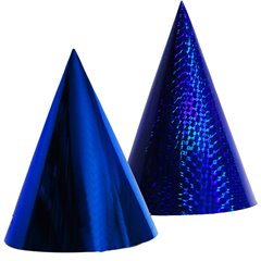 Metallic Blue Party Paper Hats - 16cm, Radar SMFIT.C16ALBASTRU