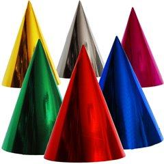 Assorted Metallic Party Paper Hats - 16cm, Radar SMFIT.C16ASS