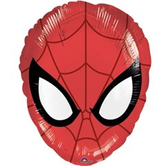 Ultimate Spider-Man Head Junior Shape Foil Balloon, Amscan 2633001