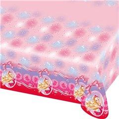 Fata de masa din plastic - Barbie Pink Shoes - 180x120cm, Amscan 552388, 1 buc