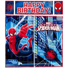 Kit decoratiuni de perete Spiderman - 190x165cm, Amscan 670295-55, set 5 piese