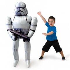 Balon folie airwalker Star Wars Storm Trooper - 132 cm, Amscan 30401