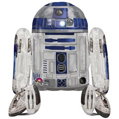 "Star Wars R2D2 AirWalkers Foil Balloon - 34""x38"", Amscan 110067"