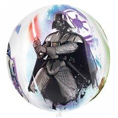 Balon Folie Orbz Star Wars, 38x40 cm, Amscan 3039601